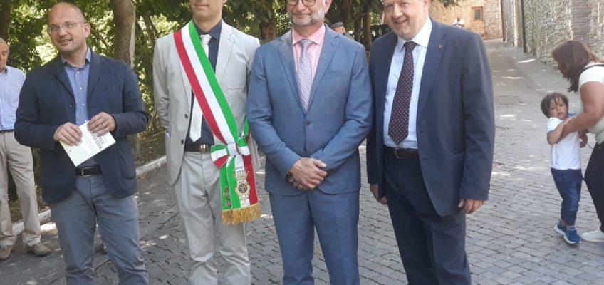 IL MINISTRO DEL CANADA, DAVID LAMETTI,  CITTADINO ONORARIO DI GENGA