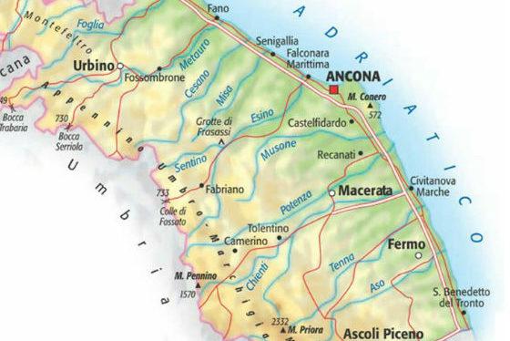 Province Marche Cartina.La Mappa Dei Comuni Covid Free